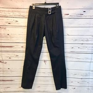 Tory Burch   Pleated Pants with Buckle Detail